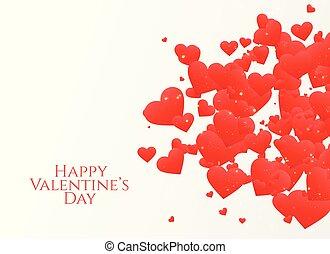 cuori, disegno, spargere, giorno, valentine