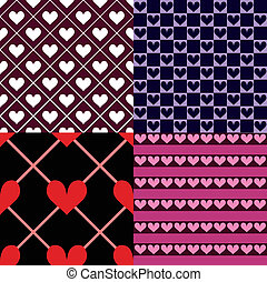 cuori, seamless, pattern%u044b