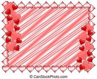 cuori, valentines, bordo, giorno