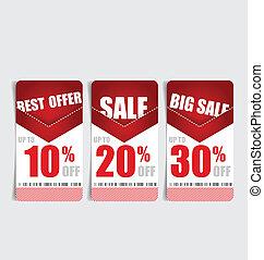 cupón, estilo, vendimia, precio, venta, voucher., diseño, ...
