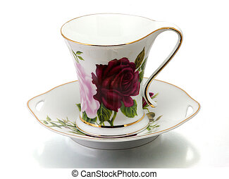 Cup and saucer - Porcelain cup and saucer