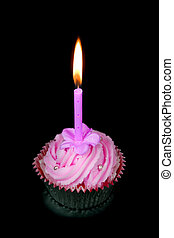 Cup cake and candle