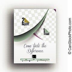 Cup Cake Back Front Flyer Template