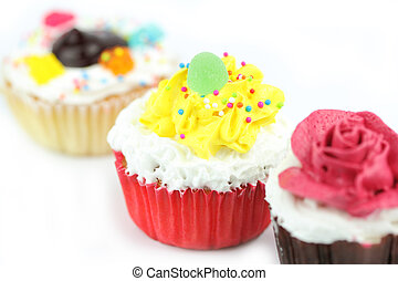 Cup cake - Cap cake on white background12