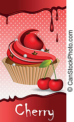 cup cake cherry