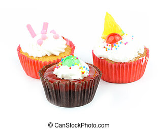 Cup  cake - Cup cake on white background 21