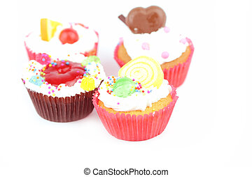 Cup  cake - Cup cake on white background 25
