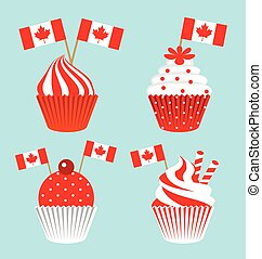 Cup cake for the national day of Canada
