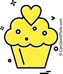 Cup cake icon design vector