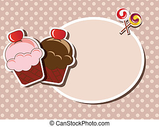 Cup cake invitation background