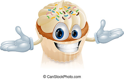 Cup cake mascot illustration