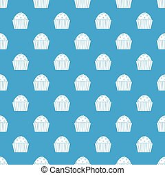 Cup cake pattern seamless blue