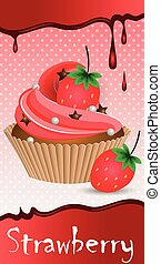 cup cake strawberry