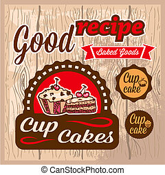 cup cakes labels