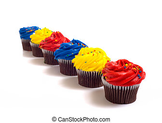 Cup Cakes on White
