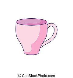 cup ceramic dishware isolated icon