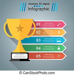 cup champion - business infographic