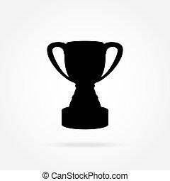 Cup champion icon vector