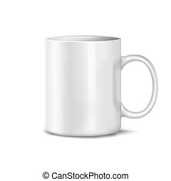 Cup on a white background. Mesh.