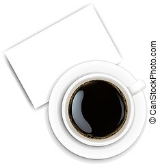 Cup Coffee And Plate White Background