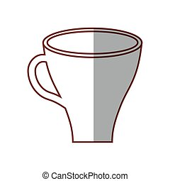 cup coffee drink shadow