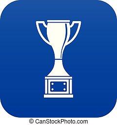 Cup icon digital blue