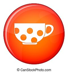 Cup icon, flat style