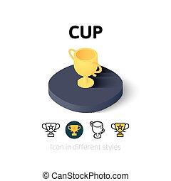 Cup icon in different style