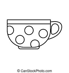 Cup icon, outline style