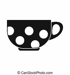 Cup icon, simple style