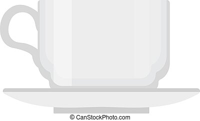 Cup icon vector flat style. Isolated on white background.  illustration