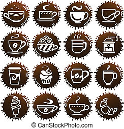 cup icons on coffee blots