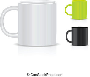 Cup isolated on white background