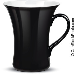 Cup isolated on white. Vector illus