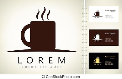 Cup logo vector design.