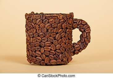 Cup made from coffee beans