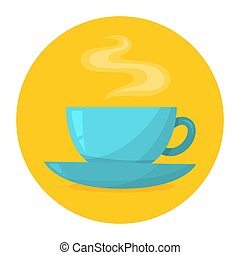 Cup of a hot delicious beverage. Coffee or tea