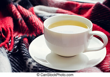 Cup of autumn tea