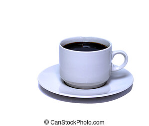 Cup of black cofee - White cup of black cofee isolated on ...