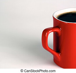 Cup of black coffee with shadow