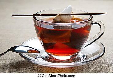 Cup of black tea.