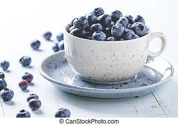Cup of blueberries
