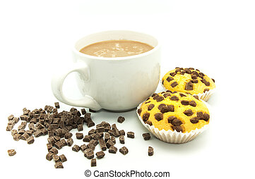 cup of chocolate muffins