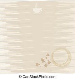 Cup of Coffee abstract background