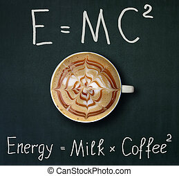 Cup of coffee and formula 2