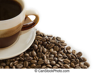 Cup of coffee and grain