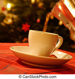 cup of coffee at christmas