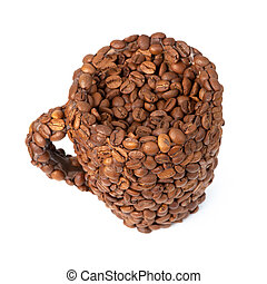 Cup of coffee beans