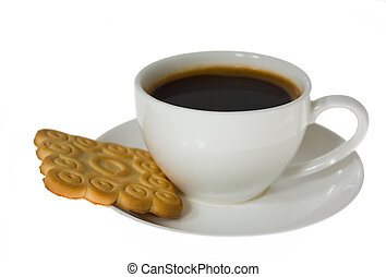 cup of coffee, biscuits