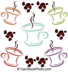 cup of coffee cartoon art vector illustration